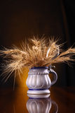 Mug of barley Stock Photo