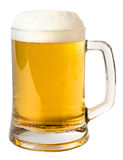 Mug of beer. Isolated on a white background Stock Photography