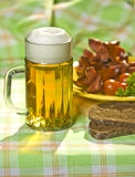 The mug of beer Stock Photography