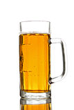 Mug of Beer. Isolated on white Royalty Free Stock Image