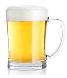Mug of beer. A mug of beer  on white Stock Photo