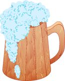 The mug of beer. The shining spume runs from the mug Royalty Free Stock Images