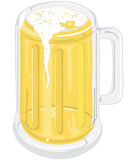 Mug of beer. Illustration of a mug of beer Stock Photography