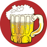 Mug of beer. Logo illustration of mug with beer Royalty Free Stock Image