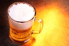 Mug of beer stock image