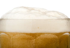 Mug beer close up background Royalty Free Stock Photos