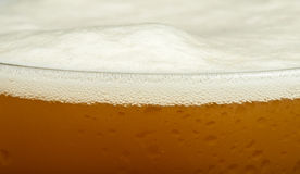 Mug beer close up background Royalty Free Stock Images