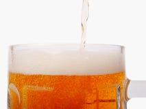 A mug of beer closeup view Stock Photography