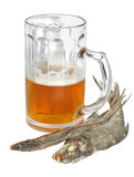 Mug of beer and dried fish a vobla Royalty Free Stock Photo