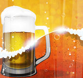 Mug of beer with foam Royalty Free Stock Photos