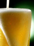 Mug of beer. Foamy beer poured into the jug Royalty Free Stock Photo
