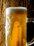 Mug of beer. Foamy beer poured into the jug Stock Photo
