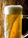 Mug of beer. Foamy beer poured into the jug Royalty Free Stock Photos
