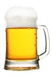 Mug of beer with froth Stock Photography