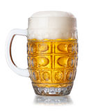 Mug of beer with froth isolated on white Stock Images