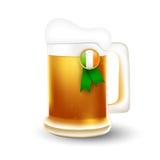 Mug of beer and Irish flag Stock Images