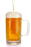 Mug of beer isolated on white Stock Photos