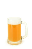 Mug of beer isolated on a white. Stock Photo
