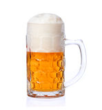 Mug of beer isolated on white Stock Photography