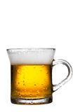 Mug of beer isolated on white Royalty Free Stock Image