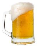 Mug of beer isolated on the white background Stock Image
