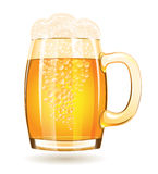 Mug of beer isolated on a white background Royalty Free Stock Photography