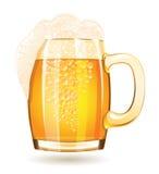 Mug of beer isolated on a white background royalty free illustration