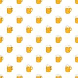 Mug with beer pattern, cartoon style Royalty Free Stock Photography