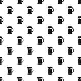 Mug of beer pattern, simple style Royalty Free Stock Photography