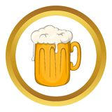 Mug with beer vector icon Stock Photography