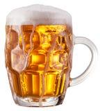Mug of beer on white background. Stock Photography