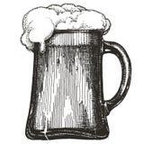 Mug of beer on white background Stock Photo