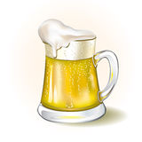 Mug of beer on white background. Vector illustrated Stock Photography