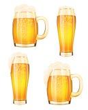 Mug of beer on a white background royalty free illustration
