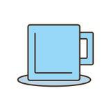 Mug beverage hot capuccino tea plate Stock Images