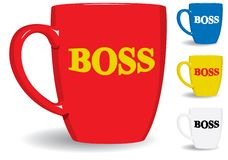 Mug for big boss. Fun. Royalty Free Stock Photo
