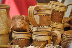 Mug of birch bark Royalty Free Stock Images