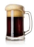 Mug of black beer Stock Photos