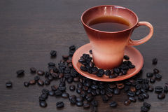 Mug of black coffee Royalty Free Stock Image