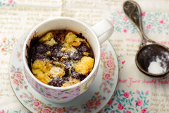 Mug cake prepared in microwave Royalty Free Stock Photography