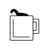 Mug capuccino coffee icon outline Stock Photography