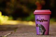 Mug of carry out coffee Royalty Free Stock Images