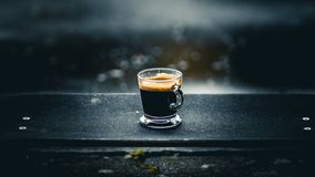 Coffe in a skateboard royalty free stock photo
