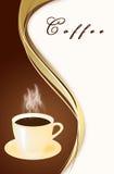 Mug of coffee on an abstract background Stock Image