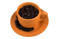 Mug from coffee beans Royalty Free Stock Image