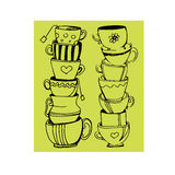 Mug coffee cup icon espresso cafe Stock Photo