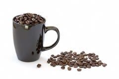 Mug of coffee on white Stock Photography