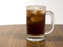 Mug of Cola. This is a shot of a fizzy mug of cola stock photography