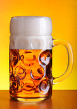 Mug of cold beer Royalty Free Stock Photos