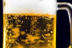 Mug Of Cold Beer Close Up Royalty Free Stock Photography